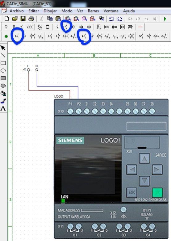 Configurar entradas del PLC Logo