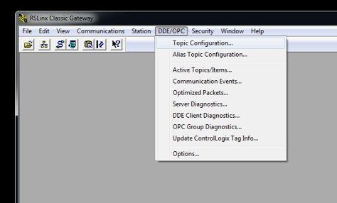 Configuración del RSLinx