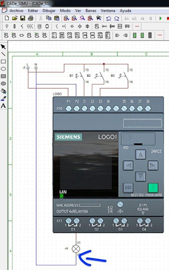 Configurar salidas del PLC Logo