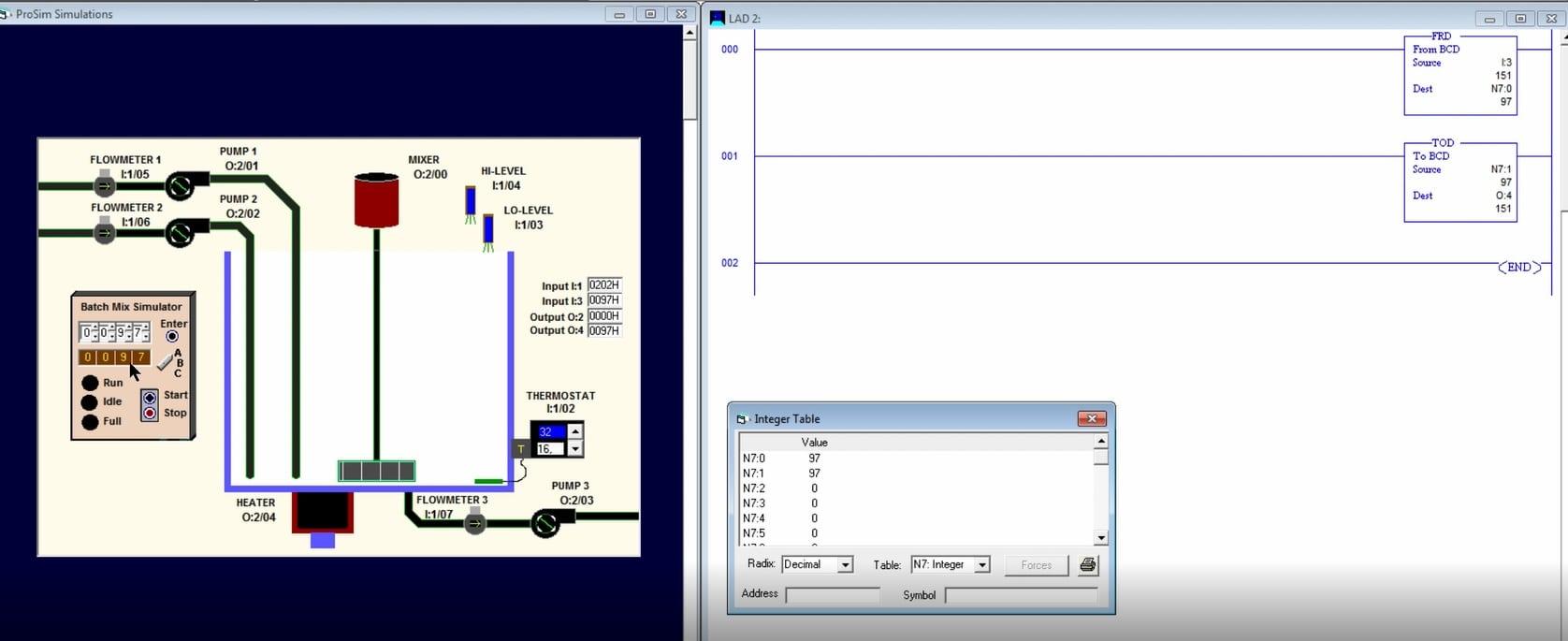 Código BCD, instrucciones y ejemplos en LogixPro