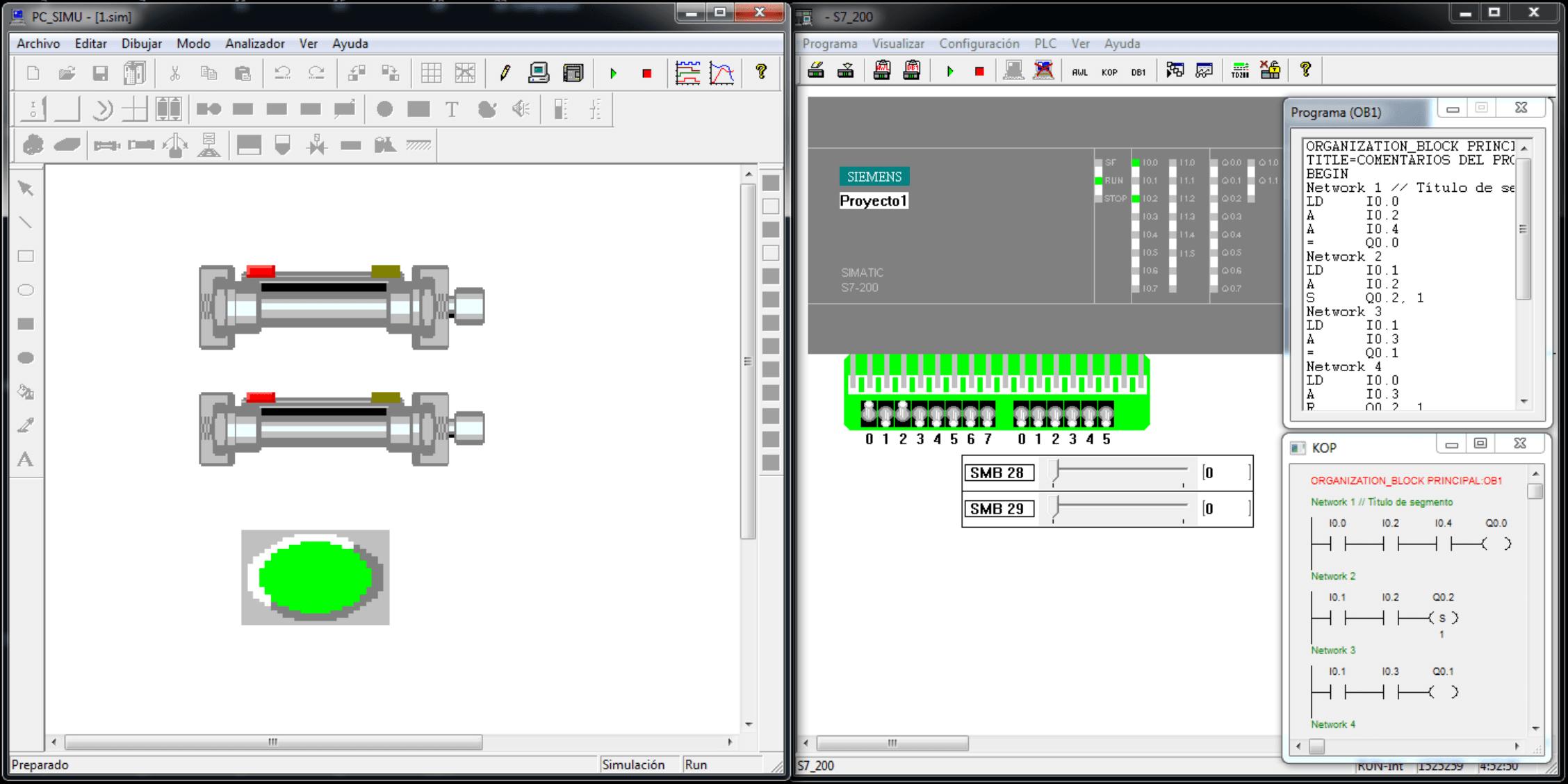 PC Simu, Simulación en 4 pasos