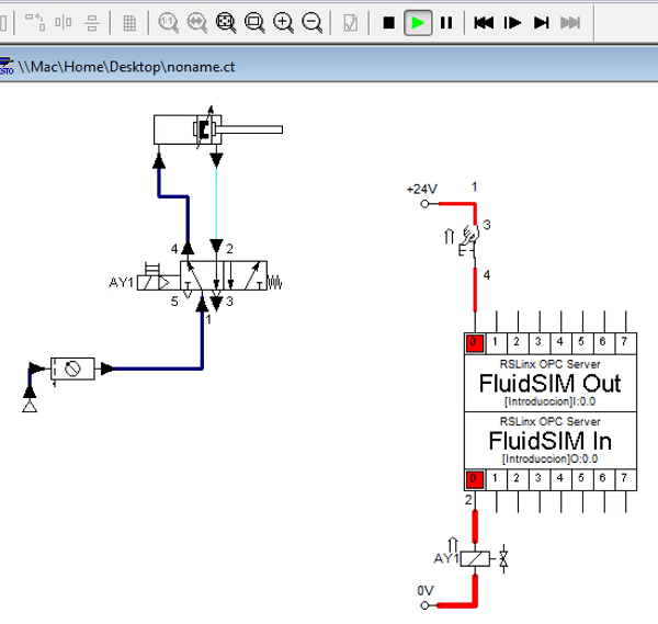 RSLogix 500 y FluidSim, enlace en 5 pasos