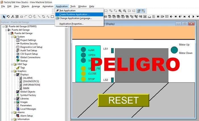 Cómo crear una runtime en FactoryTalk View